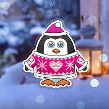 Dekorácie - Vianočná ozdoba tučniačik a hrejivý svetrík srdiečko - 10254859_