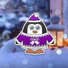 Dekorácie - Vianočná ozdoba tučniačik a hrejivý svetrík zvončeky - 10254860_
