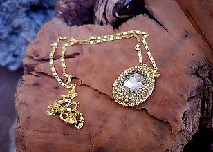 Náhrdelníky - Náhrdelník zlatý, pozlátená retiazka - 10255045_