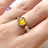 Prstene - Elegant Amber Ring / Elegantný prsteň s jantárom /1369 - 10256581_