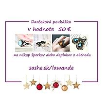 Darčekové poukážky - Vianočná darčeková poukážka 50€ - 10255675_