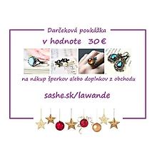 Darčekové poukážky - Vianočná darčeková poukážka 30€ - 10255676_