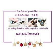 Darčekové poukážky - Vianočná darčeková poukážka 15€ - 10255678_