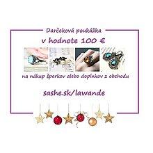 Darčekové poukážky - Vianočná darčeková poukážka 100€ - 10255682_