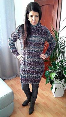 Šaty - pletené šaty Alize... - 10255760_