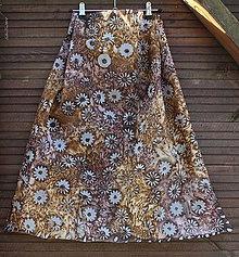 Šatky - silk scarf_hodvábna šatka_brown_hnedá - 10255660_