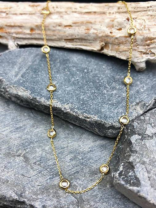 4c13075a2 Zlatý náhrdelník so zirkónmi / GildaBrandy - SAShE.sk - Handmade ...