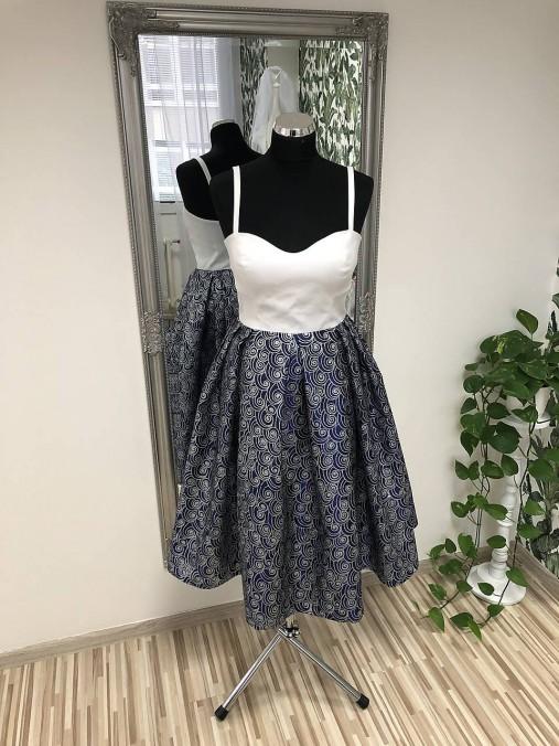 Krátke taftové šaty   SalonCyntia - SAShE.sk - Handmade Šaty 0f10e2d1ec