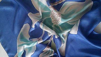 Šatky - modrá šatka - 10255755_