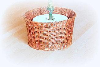 Košíky - Košík - kryt na stojan vianočného stromčeka  prieme 30 cm  (V 21 cm orechová hnedá) - 10255788_