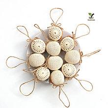 Dekorácie - Obrovské orechy (100% biobavlna, 10 ks) - 10257043_