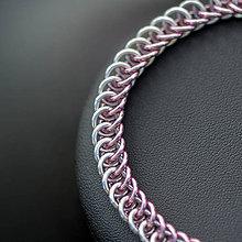Náramky - Spojení - náramok (světle ružový) - 10256873_
