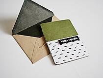 Papiernictvo - Minimalistický pozdrav -