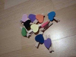 Iný materiál - mix farebných štipčekov - 10257356_