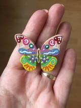 Odznaky/Brošne - Limonádový motýlik - brošnička - 10257450_