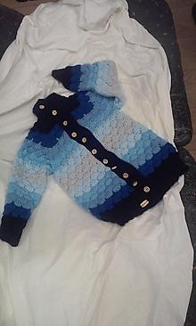 Detské oblečenie - sveter modrý - 10256961_