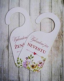 Darčeky pre svadobčanov - Visačky na dvere - 10257658_