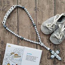 """Iné šperky - Bezpečný ruženec pre bábätko """"Mramorový"""" - 10257314_"""