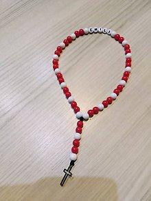 Iné šperky - Ruzencek v červeno bielej - 10257304_