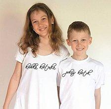 Detské oblečenie - tričko pre kvetinky - 10257642_