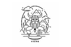 Tričká - Viking tričko - 10256970_