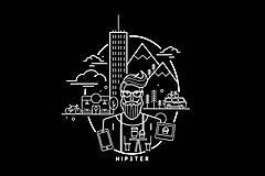 Tričká - Hipster tričko - 10256992_