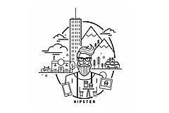 Tričká - Hipster tričko - 10256993_