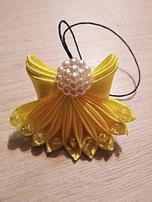 Drobnosti - Saténový anjel (Žltá) - 10257072_