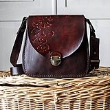Kabelky - Kožená mini kabelka *mahagón* - 10257272_