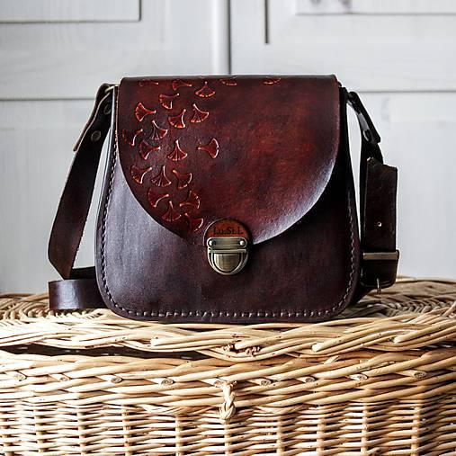 b9cafb2a1 Kožená mini kabelka *mahagón* / Lu.Si.L - SAShE.sk - Handmade Kabelky