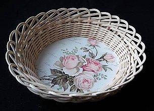 Košíky - Košík s ružami - 10256899_