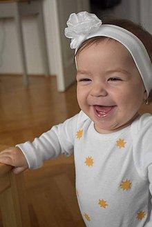 Detské oblečenie - Body zlaté hviezdy - 10257785_