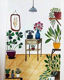 Obrazy - Moja izba  ilustrácia / originál maľba  - 10257771_