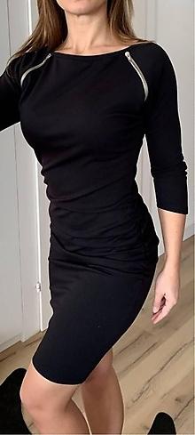 Šaty - Cierne saty - 10258045_