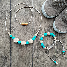 """Sady šperkov - Set silikónových šperkov """"Koraly v tyrkysovom mori"""" - 10258067_"""