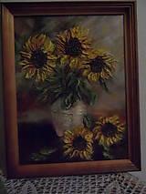 Obrazy - Slnečnice na stole - 10258090_