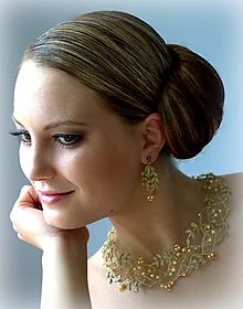 Sady šperkov - Souprava Ester zlatá - 10257802_