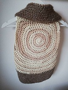 Detské oblečenie - Kruhová vesta - teplučká, háčkovaná - 10257755_