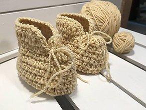 Topánočky - Detské vlnené papučky - 10258871_