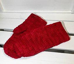 Rukavice - Rukavice z ovčej vlny (Červená) - 10258874_