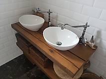 Nábytok - Kúpeľňa so starých dubových hranolov 4 - 10258674_