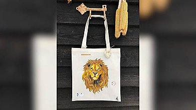 Iné tašky - ♥ Plátená, ručne maľovaná taška ♥ - 10258508_