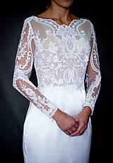 Šaty - Svadobné šaty s dlhým rukávom morská panna - 10258625_