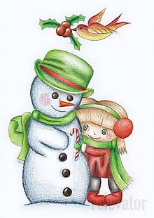 Kresby - Láska zahreje, aj od snehuliaka - 10258831_