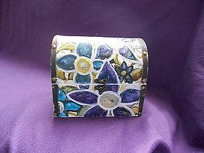 Krabičky - Drevenná šperkovnica - akvarel - 10258898_