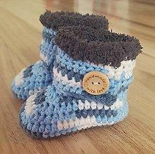 Detské topánky - Sivo-modré čižmičky - 10259265_
