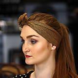 Ozdoby do vlasov - Vintage šatka do vlasov Gloss copper - 10259441_