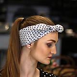 Ozdoby do vlasov - Vintage šatka do vlasov Modre kvetinky - 10259474_