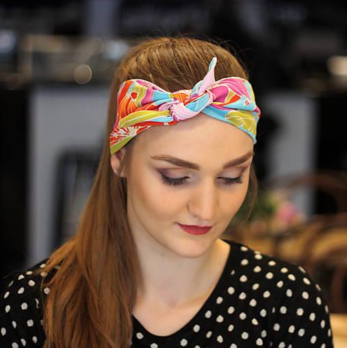 Vintage šatka do vlasov Ružové kvety   Cat.in.the.closet - SAShE.sk ... 6d62e9e4e2