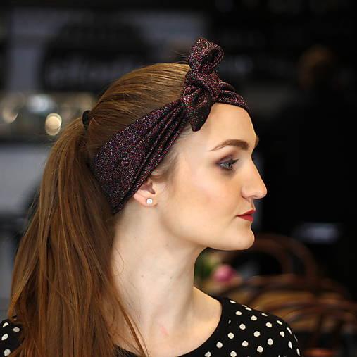 Vintage šatka do vlasov Gloss purple   Cat.in.the.closet - SAShE.sk ... 4c434983a7